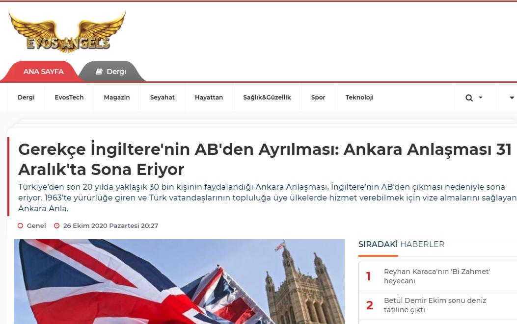 İngiltere nin Ankara Anlaşması vizesi bitiyor