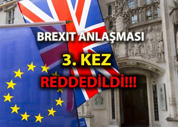 Brexit 3. kez red edildi