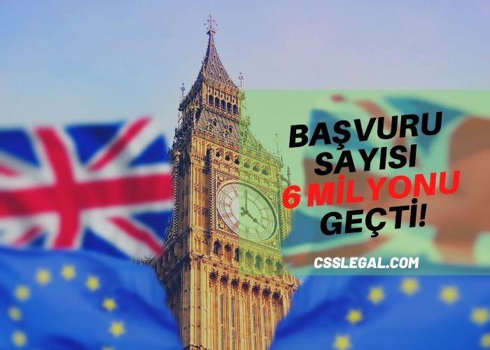 6 Milyon Avrupalı İngiltere'de Kalabilmek İçin Başvuru Yaptı!