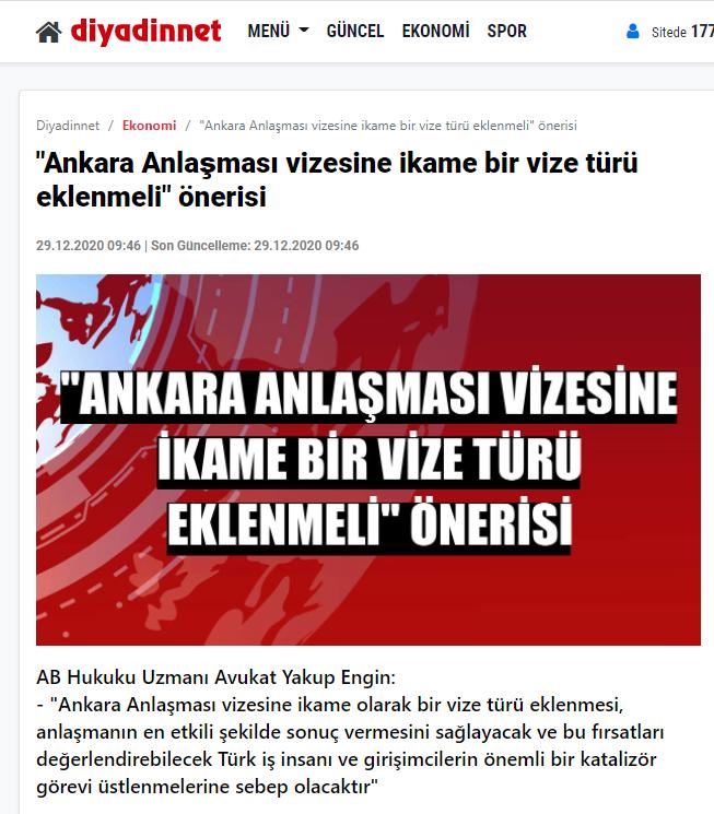 Ankara Anlaşması vizesine ikame bir vize türü eklenmeli