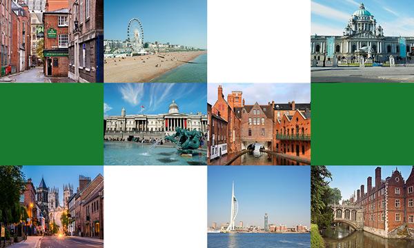 İngiltere'de Şehirler