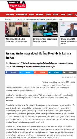 Ankara Anlaşması Vizesi İle İngiltere de İş Kurma İmkanı