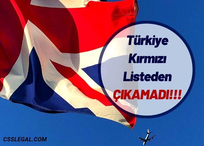 İngiltere Seyahat Güncellemelerini Açıkladı: Türkiye Kırmızı Listede