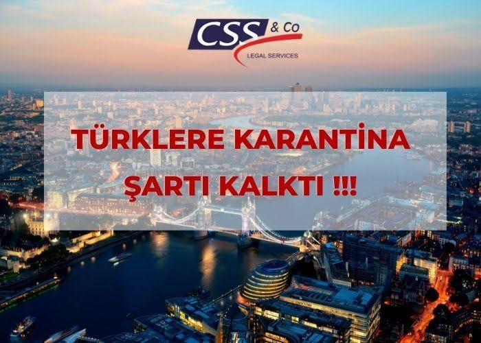 Türklere Karantina Şartı Kalktı!