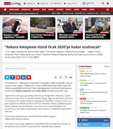 Ankara Anlaşması vizesi Ocak 2020'ye kadar uzatılacak