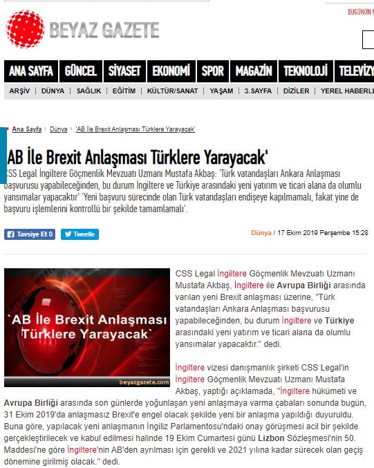 AB ve İngiltere anlaşması Türklere yarayacak