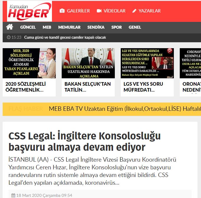 CSS Legal: İngiltere Konsolosluğu başvuru almaya devam ediyor