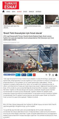 Brexit Türk İhracatçılar İçin Fırsat Olacak
